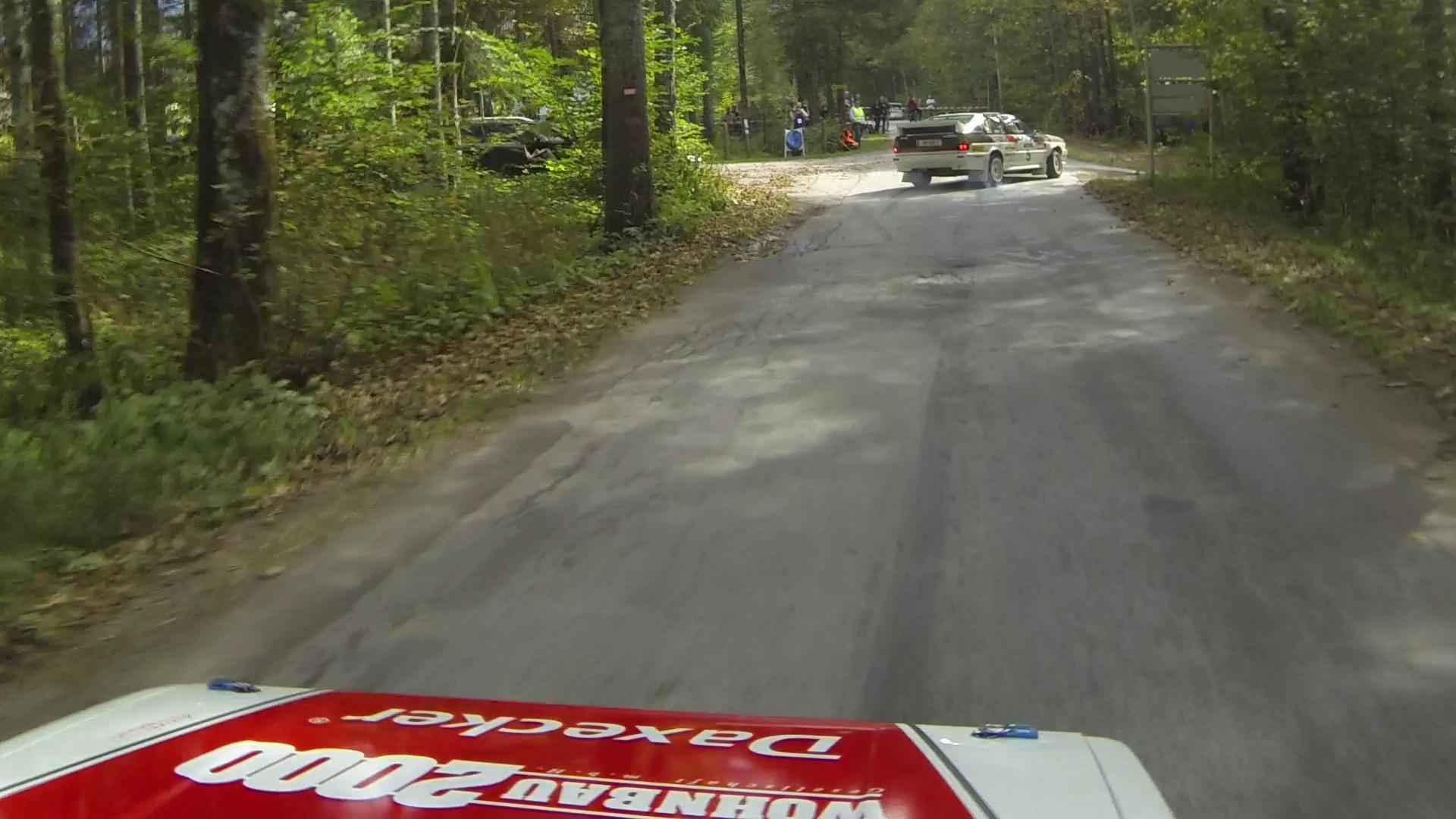 Auf der Jagd nach dem Audi Coupé Quattro vor uns