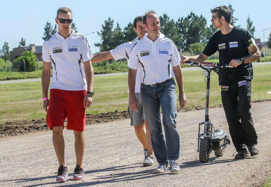Track Walk mit Janis, Manfred und Günther (copyright by Andris Baumanis)